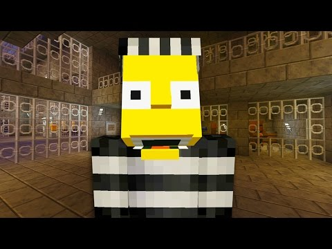 Bart Simpson Escapes From Prison  | The Simpsons |  Minecraft Xbox [49]