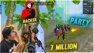 7 Million Party Biggest Meetup in Ranked Messed by Hacker 41 Kills | Garena Free Fire