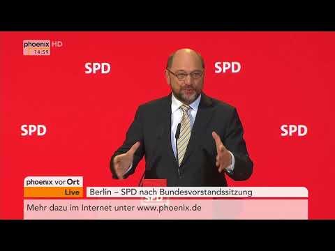Martin Schulz nach der Bundesvorstandssitzung der SPD am 27.11.17