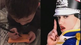 5-Year-Old Boy Writes First Word After Memorizing Lyrics From
