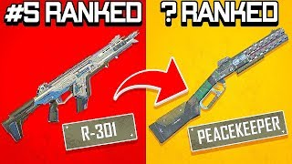 RANKING EVERY GUN IN APEX LEGENDS FROM WORST TO BEST