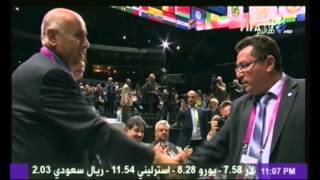 أحمد شوبير يوجه إنتقاد لاذع لجبريل رجوب رئيس الإتحاد الفلسطيني للقدم بعد مصافحته لنظيره الإسرائيلي