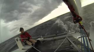 Paper Tiger catamaran racing 30-40 knots