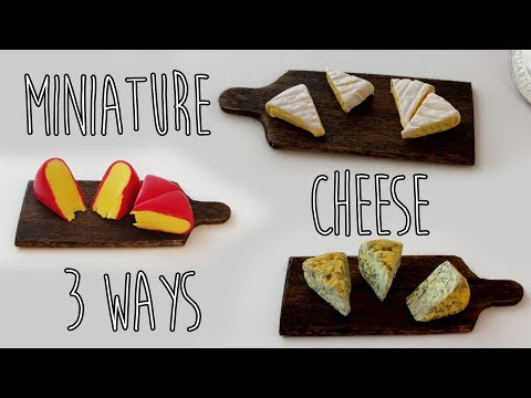 Realistic Miniature Cheese • polymer clay tutorial