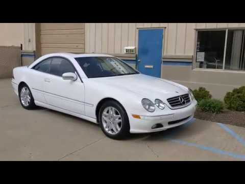 2000 Glacier White /Dark Charcoal Leather Mercedes-Benz CL-Class (WDBPJ75J2YA) with an V8, 5.0L engine, Automatic transmission, located at 603 Amelia Street, Plymouth, MI, 48170, (734) 459-5520, 42.378841, -83.464546 - Photo #0