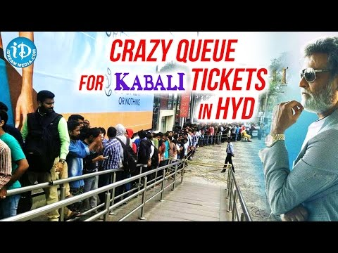 Crazy Queue For Kabali Tickets In Hyderabad At Prasads IMAX || Rajinikanth || #kabali