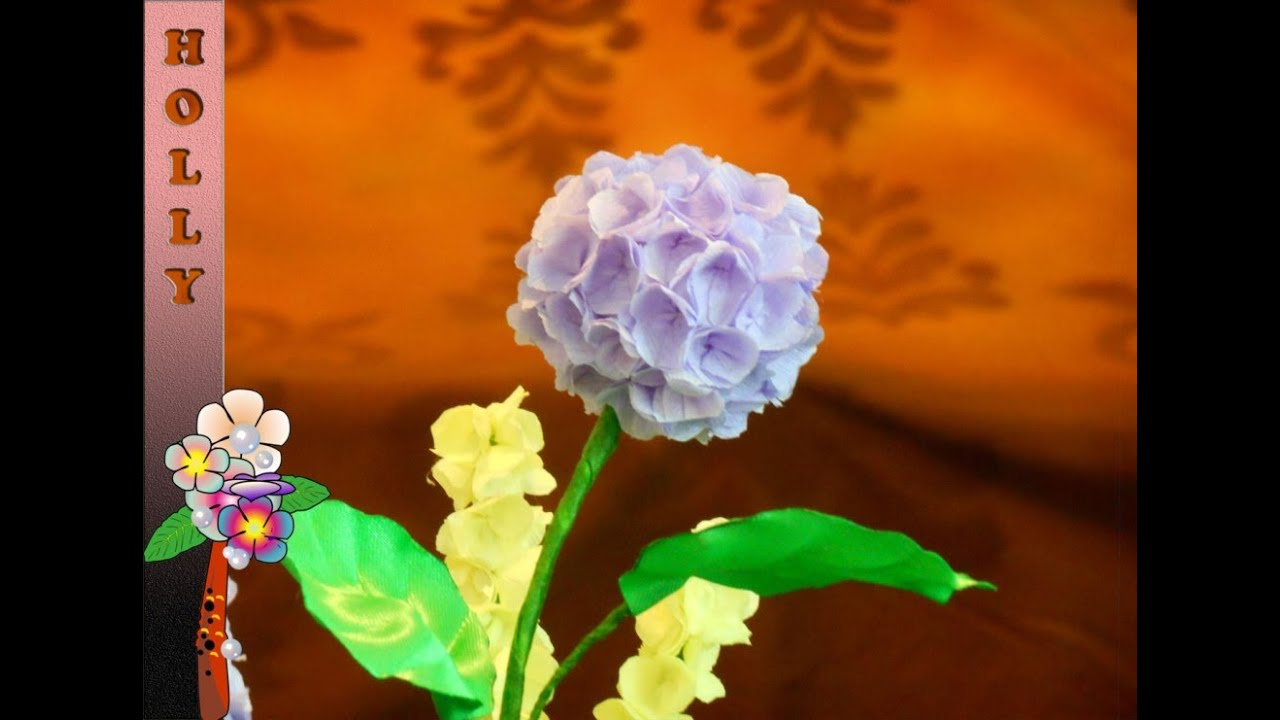 How To Make Tissue Paper Flowers Hydrangea