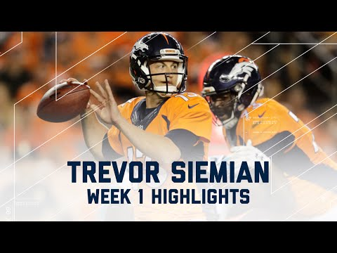 Every Trevor Siemian Throw | Panthers vs. Broncos | NFL Week 1 Player Highlights