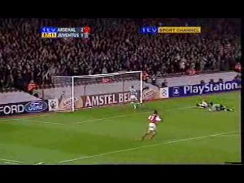 Ljungberg & Bergkamp Great Team Goal - Arsenal v Juventus, Dec-01