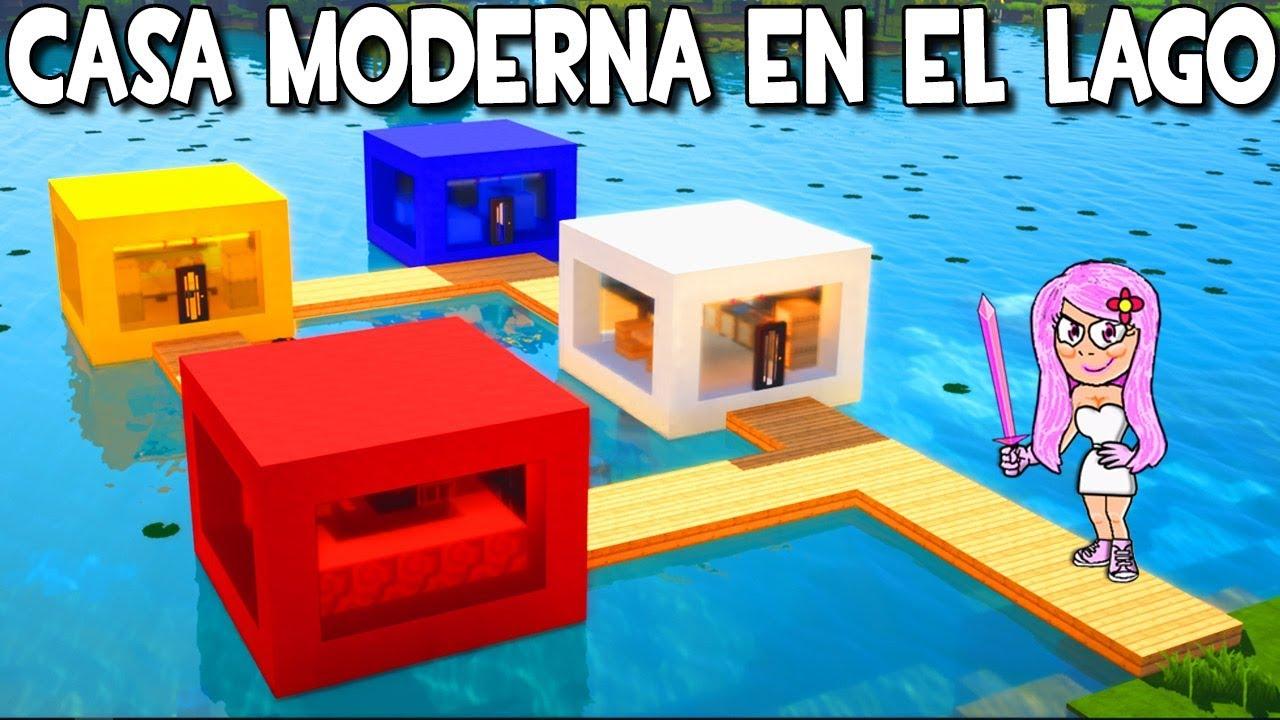 Como hacer una casa moderna en el lago en minecraft for Casa moderna 8 en minecraft mirote y blancana