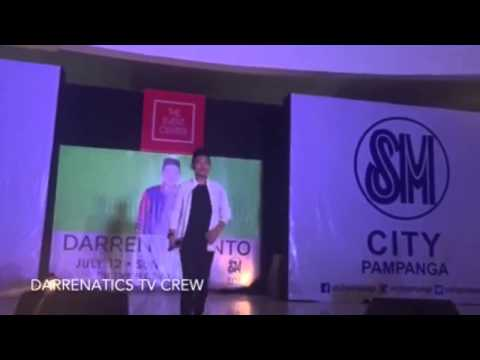 DARREN ESPANTO LIVE IN SM CITY PAMPANGA   FULL VIDEO PERFORMANCE (July 12,2015)