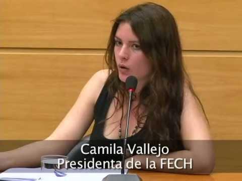 Camila Vallejo y Francisco Figueroa en el CEP