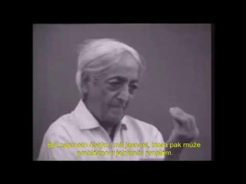 Jiddu Krishnamurti - V tichosti mysli přichází věčnost (české titulky)