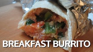 Veggie Breakfast Burrito - Student Recipe