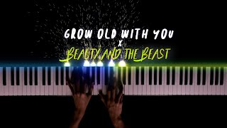 Grow Old With You x Beauty And The Beast | Piano Cover by Gerard Chua видео