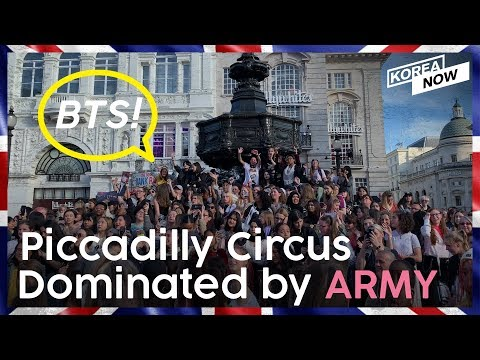 BTS ARMY Takes Over Piccadilly Circus in London