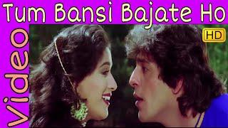 Tum Bansi Bajate Ho | Alka Yagnik, Manhar Udhas | Khilaaf | Chunkey Pandey, Madhuri Dixit | HD Song