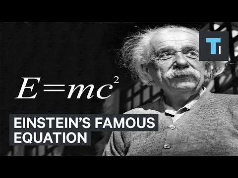 What Einstein's famous equation E=mc^2 actually means