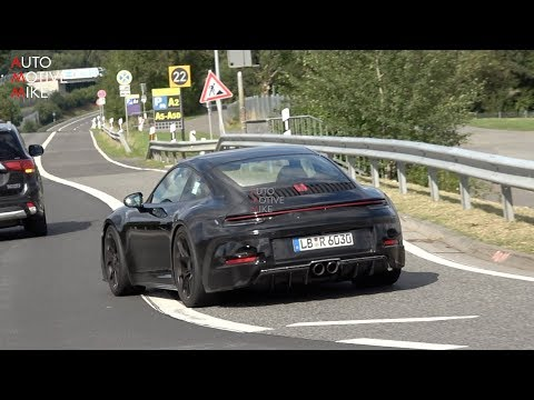 2021 PORSCHE 992 GT3 TOURING SPIED TESTING AT THE NÜRBURGRING