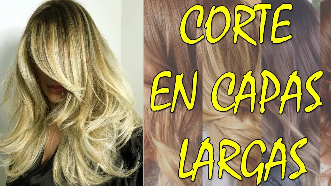 Cortes De Cabello En Capas Largas 2018 Youtube