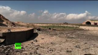 Видео с сирийской базы, по которой США нанесли ракетный удар