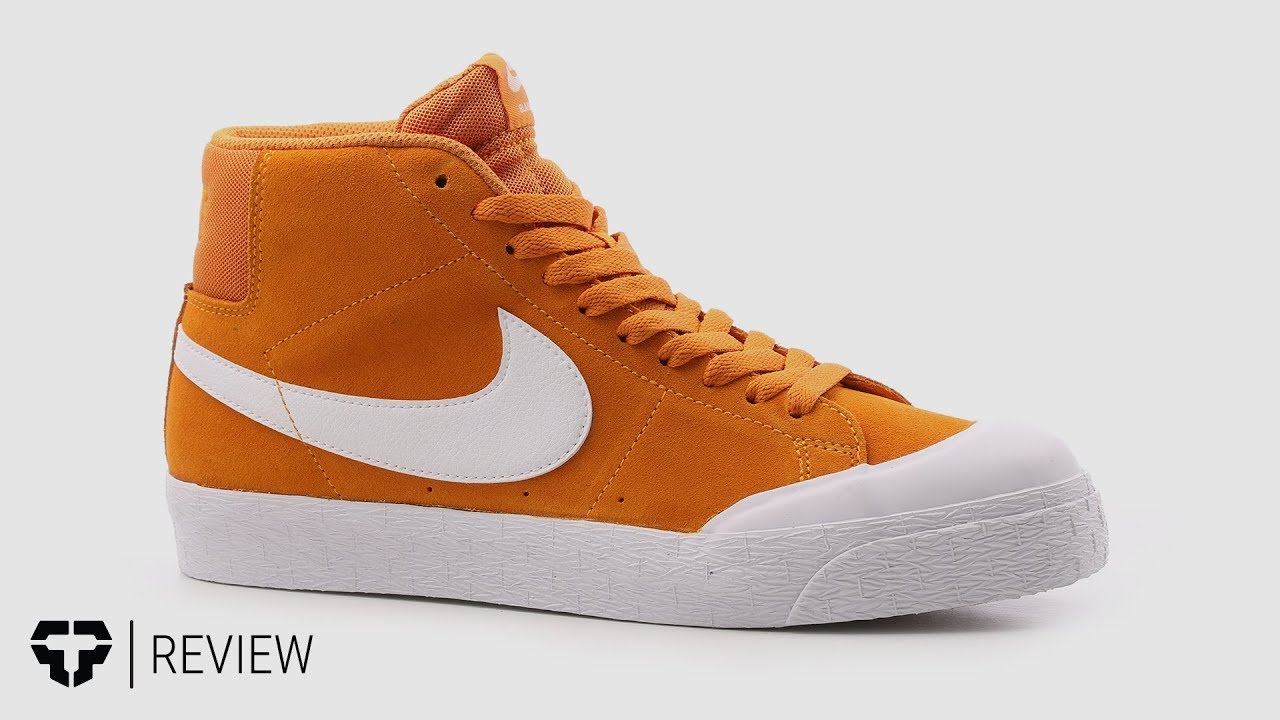 15a574461185 Nike SB Blazer Zoom Mid XT Skate Shoes Review - Tactics.com - YouTube