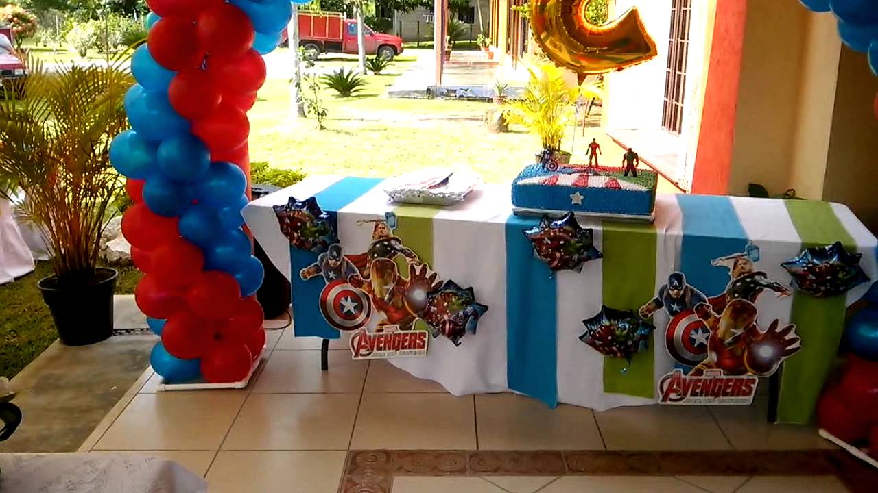 Arreglo Con Globos Estilo The Avenger Youtube