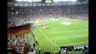 Niemcy - Dania 2012-06-17 Lwów (rozpoczęcie meczu)