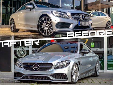 SIFIR 0 Km Mercedes Benz C180 Coupe yi C63s AMG ye evirdik