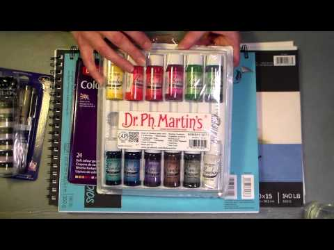mixed media supplies from Oriental Trading co
