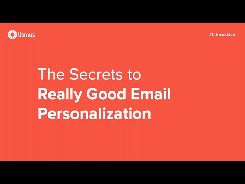 The Secrets To Really Good Email Personalization
