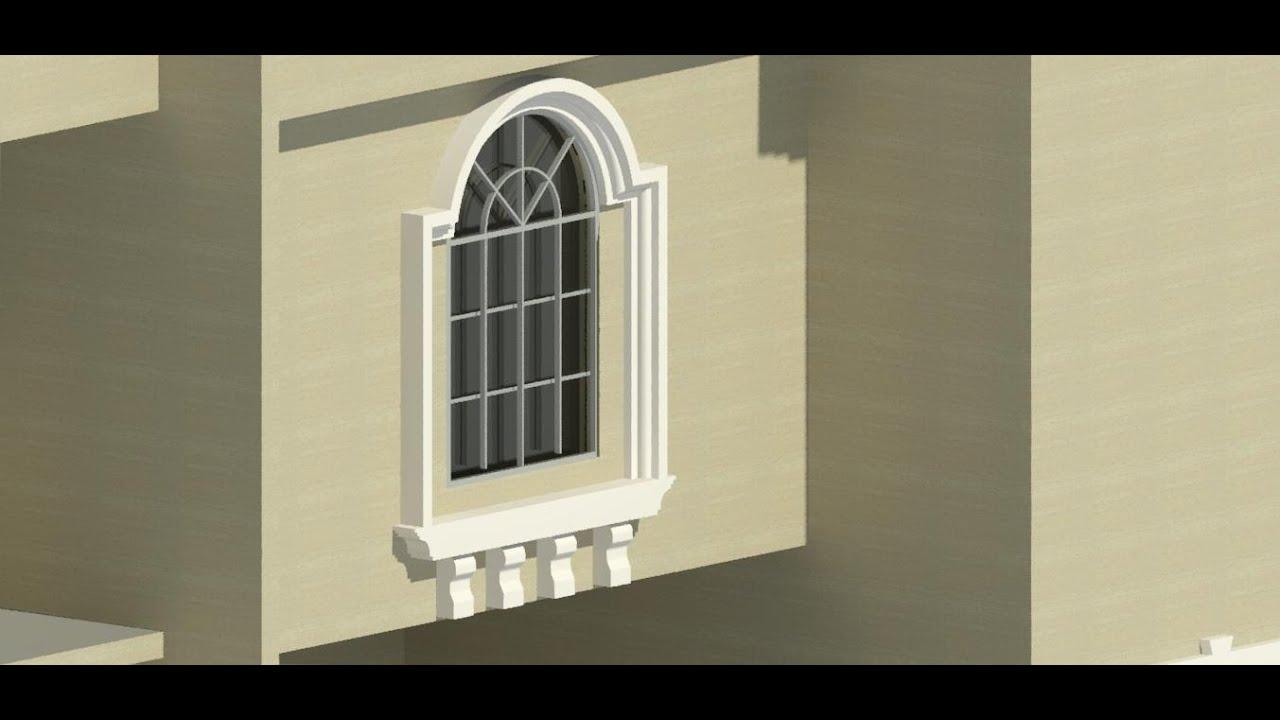 14 Glassed Window In Revit Arch كيفيه عمل الشبابيك الزجاج الدوران فى الريفت المعمارى Youtube