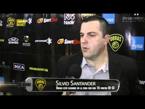 Silvio Santander post Boca Juniors (10-11-2013)