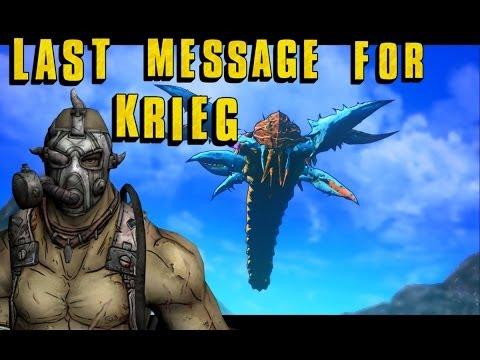 Borderlands 2: Message for Krieg (psycho) Son of Crawmerax DLC