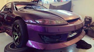Raketoplán Nissan 200sx s14,5 2JZ work #1 #KRSTDRFT drift lifestyle vlog #290