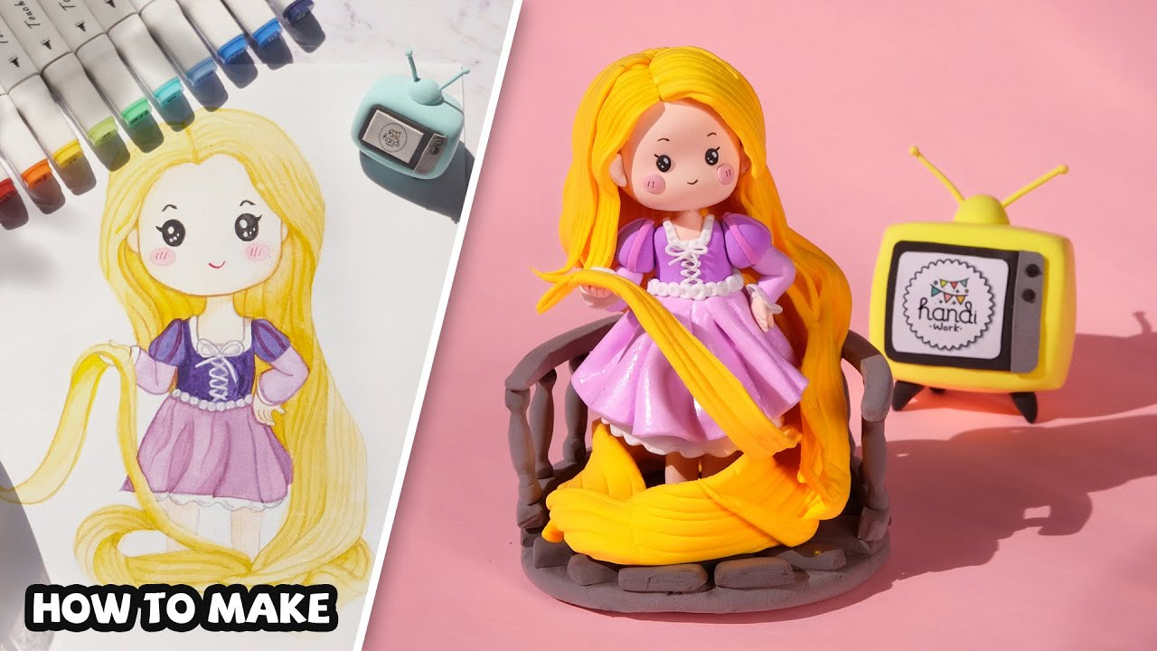 Rapunzel Princess - How To Make | Handi Work