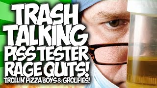 COD BO2: TRASH TALKING PISS TESTER RAGE QUITS!! TROLLIN