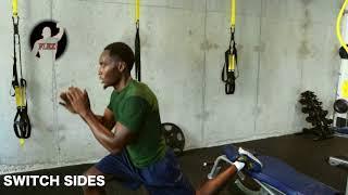 FLEX EXERCISES: REAR LEG ELEVATED PULSE LUNGE