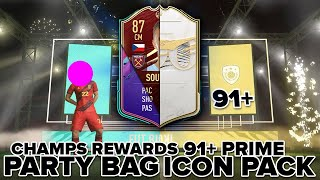 91+ PRIME ICON PACK, PARTY BAG & FUT CHAMPS REWARDS