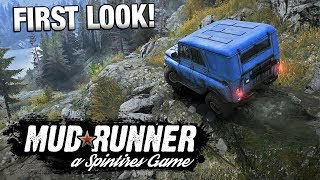 SPINTIRES MUDRUNNER | First Look Gameplay [Sponsored]