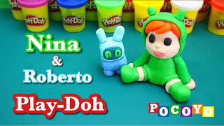 How to make Nina and Roberto from POCOYO with Playdoh / step by step tutorial.