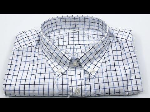 Uniqlo Men Extra Fine Cotton Checked Long Sleeve Shirt Off White【4K】