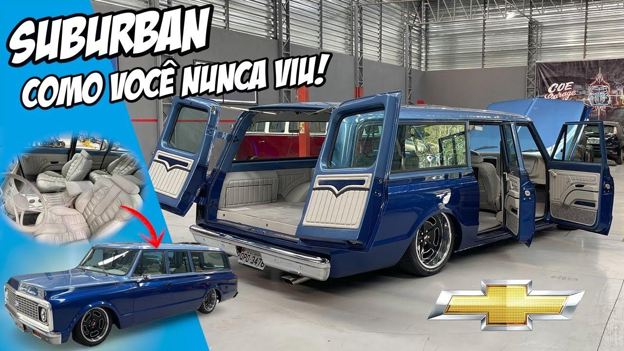 SUBURBAN COM BANCOS DE EVOQUE, MOTOR V6 SUSPENSÃO A AR, SONZEIRA E DUAS MEDIDAS DE RODAS - 7008FILMS