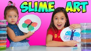 У Маши новая идея - рисунки слаймами👌 Слайм арт челлендж Slime ART Challenge