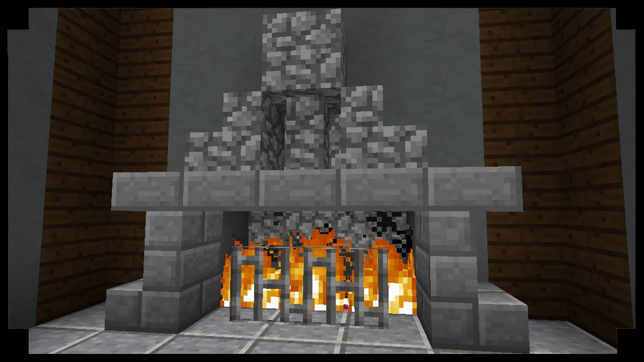 Minecraft: How to make simple fireplace! - YouTube