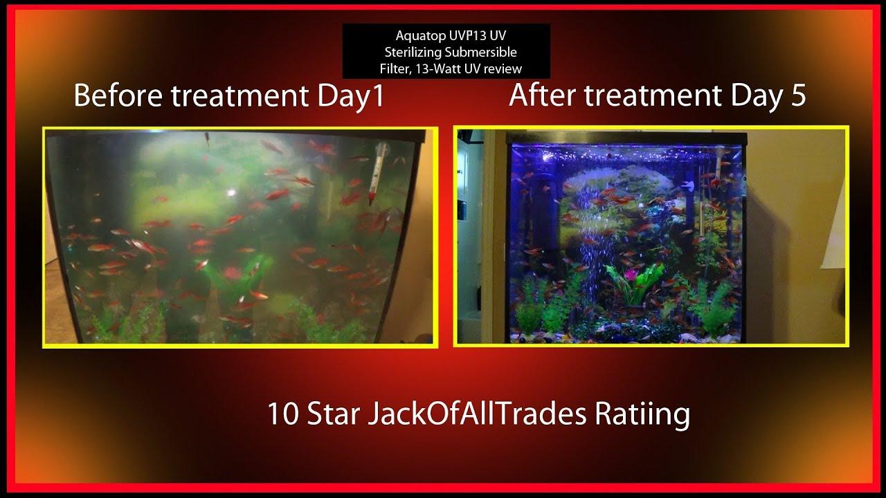 Aquatop uvp 13 uv fish tank filter review fix any algea for Fish tank review