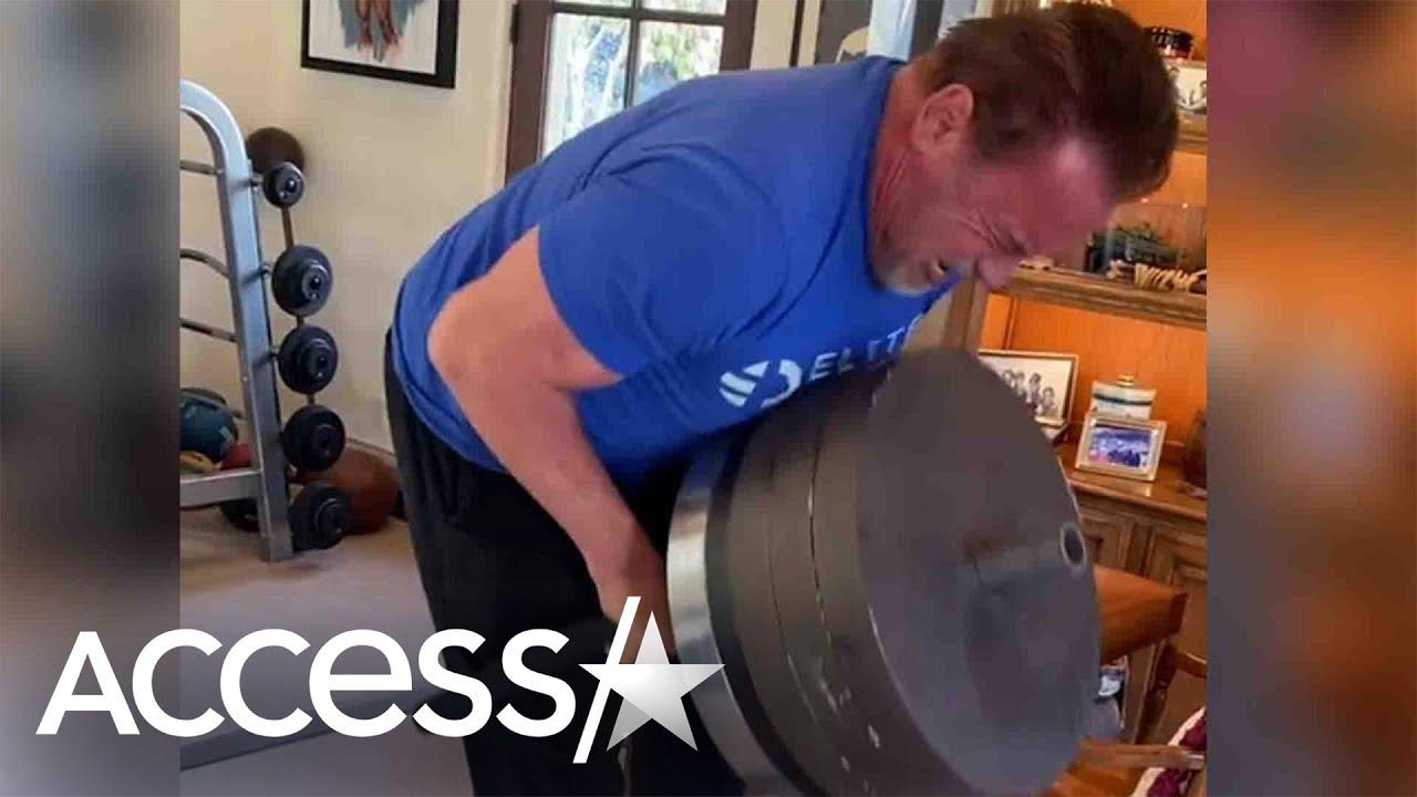 Arnold Schwarzenegger Pumps Iron For 74th Birthday