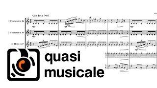 """""""I Feel Good"""" (James Brown) arr. Adrian Wagner - Brass Quintet (Sheet Music) Arrangement"""