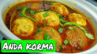 ANDA KORMA RECIPE / Mughlai agg curry / Easy and very delicious* Zaika e Lucknow*