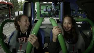 First Riders on The Joker Rollercoaster at Six Flags Great America Via ChiILMama.com